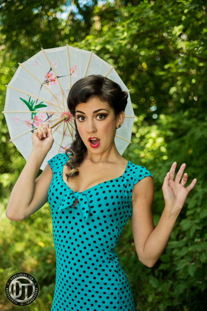 Samantha Layer as a surprised Pinup! By Style Hunter Fox and photographer Dano Tanaka