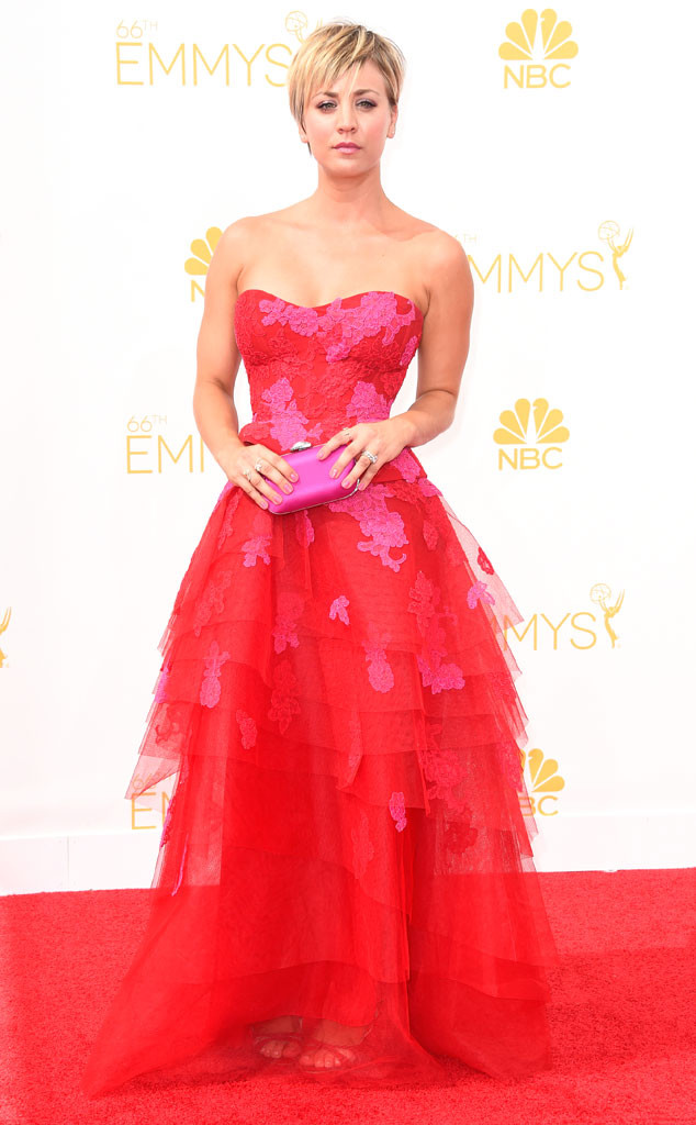 Kaley Cuoco-Sweetling in Monique Lhullier.
