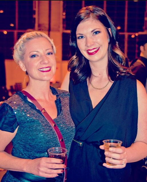 With the talented, and very tall (I'm totally on my toes here) Rebecca Johnson.
