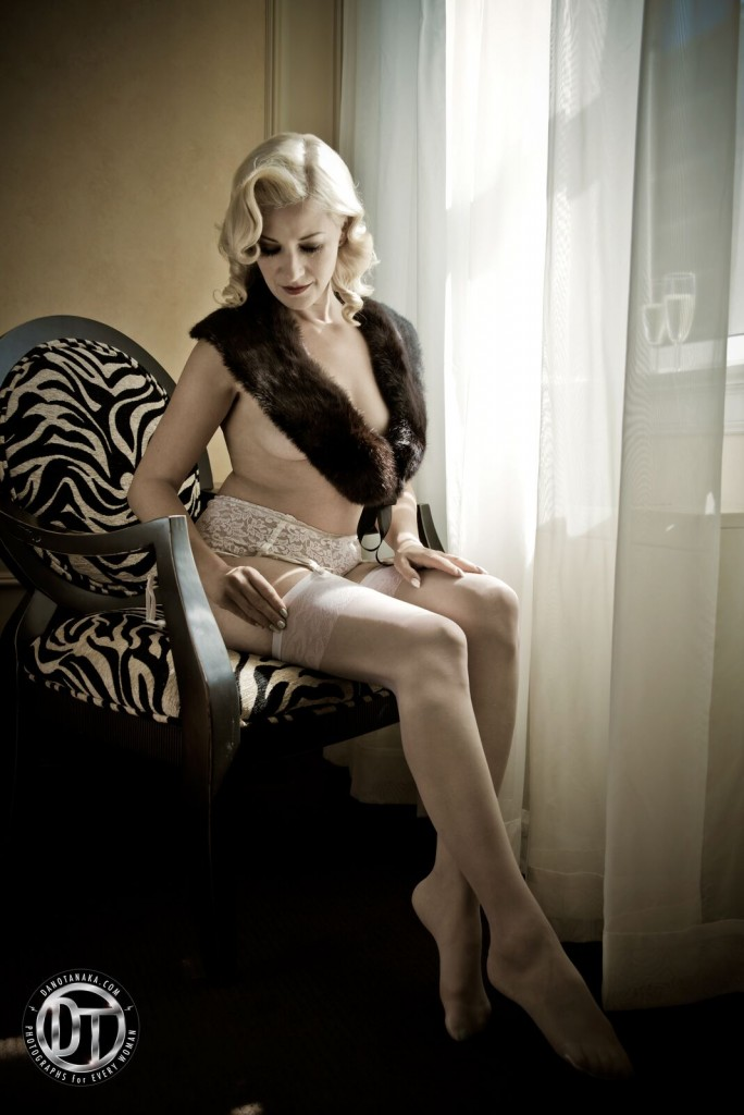 Boudoir photo shoot in luxe surroundings with Dano Tanaka.